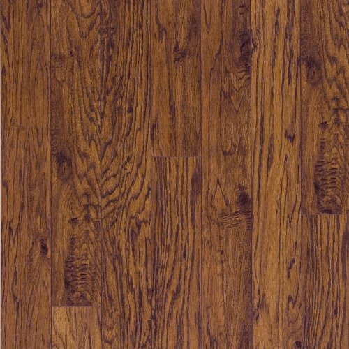 Pergo RM000456 Elegant Expressions Laminate Flooring Sample, 16-Inches by 4.9-Inches, Handscraped Kingwood