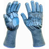 ARCTICA GRIPS Grilling Gloves - 932°F Heat Rated,Cut,Fire Resistant Gloves 100% Kevlar/Aramid 1 Pair - 14