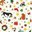 Caspari Entertaining with Caspari 8-Feet Long Santa's Helpers Continuous Wrapping Paper Roll,