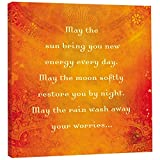 Tree-Free Greetings EcoArt Home Decor Wall Plaque, 11.25 x 11.25 Inches, May The Sun Themed Inspiring Quote Art (85563)