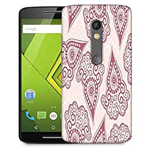 Snoogg Maroon Pattern Designer Protective Phone Back Case Cover For Lenovo Motorola Moto G4