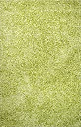Area Rug, Lime Solid Shag Soft Wool Carpet, 7\' 6\