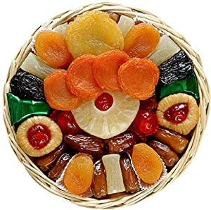 Broadway Basketeers Heart Healthy Floral Dried Fruit (Small) Gift Basket, 16 Ounce Box
