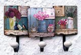 Garderobe-Wandgarderobe-Hakenleiste-Kleiderhaken-Blumen-bunt-ANT
