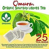 ORGANIC OMURA SOURSOP Guanabana Graviola TEA ANTIOXIDANT RICH , Pack 25 TEA BAGS (NEW)