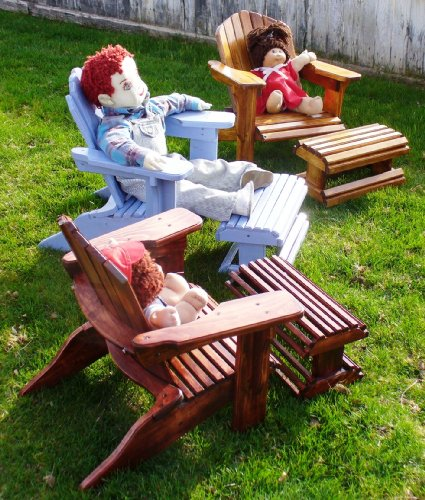 PLANS TO BUILD CHILD SIZE ADIRONDACK CHAIR Easy PATTERN Simply Trace & Cut; includes footstool pattern too!!