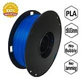 NovaMaker PLA 3D Printer Filament, Dimensional Accuracy +/- 0.03 mm, 1 kg Spool, 1.75 mm, Glow in the Dark, Luminous Blue (Color: Luminous blue)