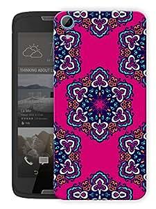 "Humor Gang Indian Rangoli Ethnic Pattern Printed Designer Mobile Back Cover For ""HTC DESIRE 828"" (3D, Matte Finish, Premium Quality, Protective Snap On Slim Hard Phone Case, Multi Color)"
