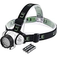 Lighting EVER 4-Modes Battery Powered Helmet Light with 3 AAA Batteries