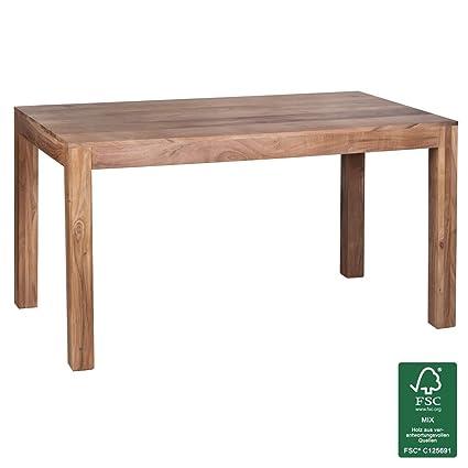 Wohnling legno massello Acacia Tavolo da pranzo 140x 80x 76cm wl1.459