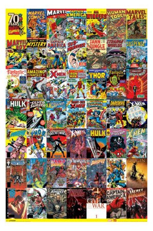 Marvel Comics (70th Anniversary Collage) Art Poster Print  24