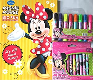 Amazon Com Minnie Mouse Coloring Amp Activity Book Jumbo