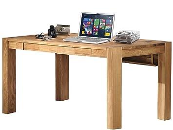 Schreibtisch Arbeitstisch GIORGIA aus Eiche massiv mit 2 Schubladen