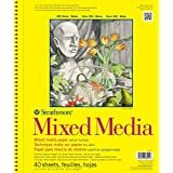 Strathmore 362110 90-Pound 40-Sheet Strathmore Mixed Media Vellum Paper Pad, 11 by 14-Inch