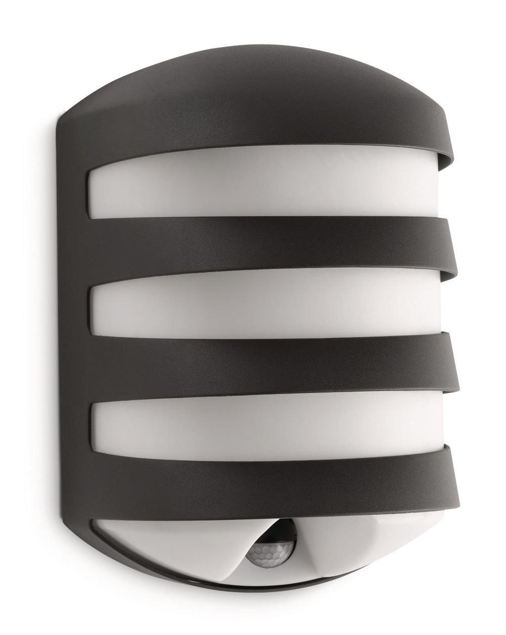 Philips Ecomoods IREnergiesparWandaussenleuchte inklusiv Energiespar Leuchtmittel inklusiv Bewegungsmelder Typ J (Erfassungswinkel 140°, Reichweite 6 m) 169389316   Kundenbewertung und weitere Informationen