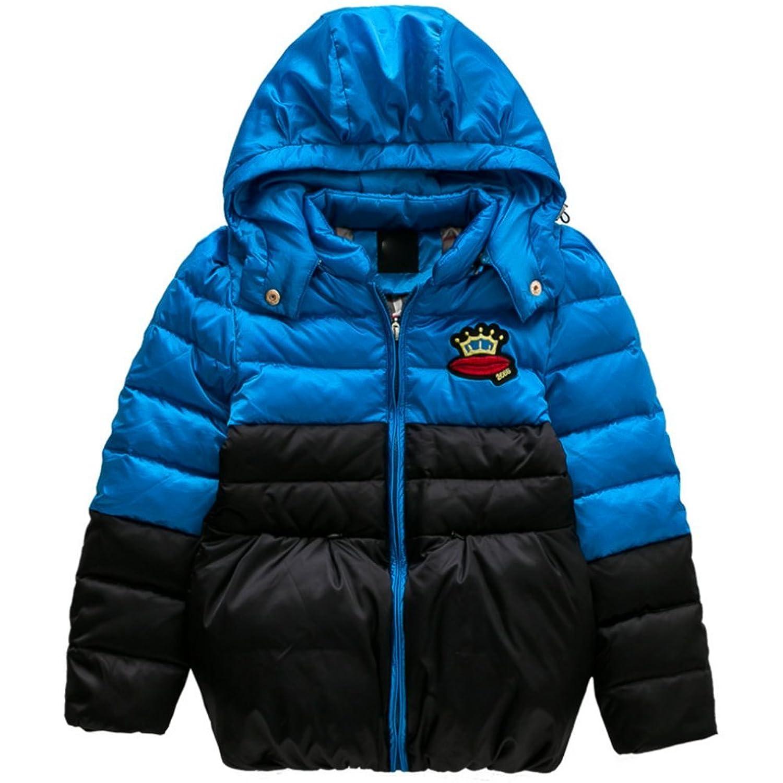 iikids Daunenjacke Kinder Jungen Mädchen Winterjacke mit Kapuze Jacket Wintermantel Mantel Parka Outerwear Oberbekleidung Winter Kleidung günstig online kaufen