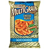 Snyder's of Hanover MultiGrain Cheddar Cheese Puffs, 9-Ounce Packages (Pack of 12) ~ Snyder's of Hanover
