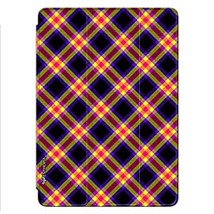 Enthopia Designer Front Smart Cover CHECKERED CHECKS Back Cover for Ipad Air 2 with Transparent Back Case