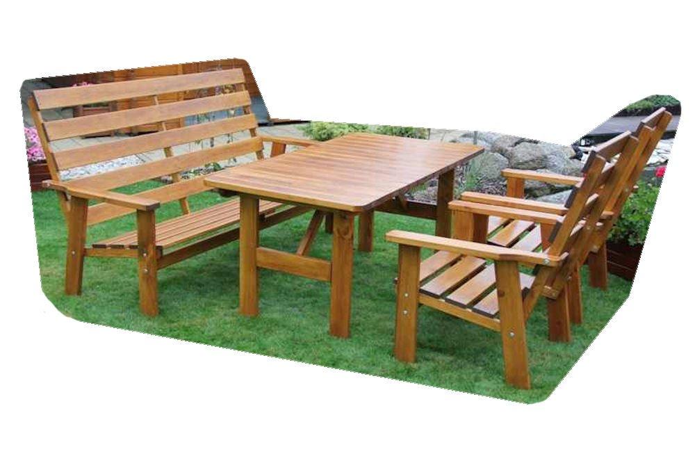 Massivholz Garten Sitzgruppe