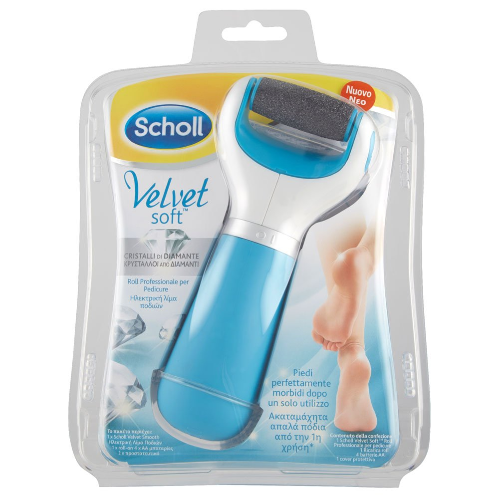 Scholl Velvet Smooth Express Pedi Electronic Foot File (Free foot & Nail Cream)