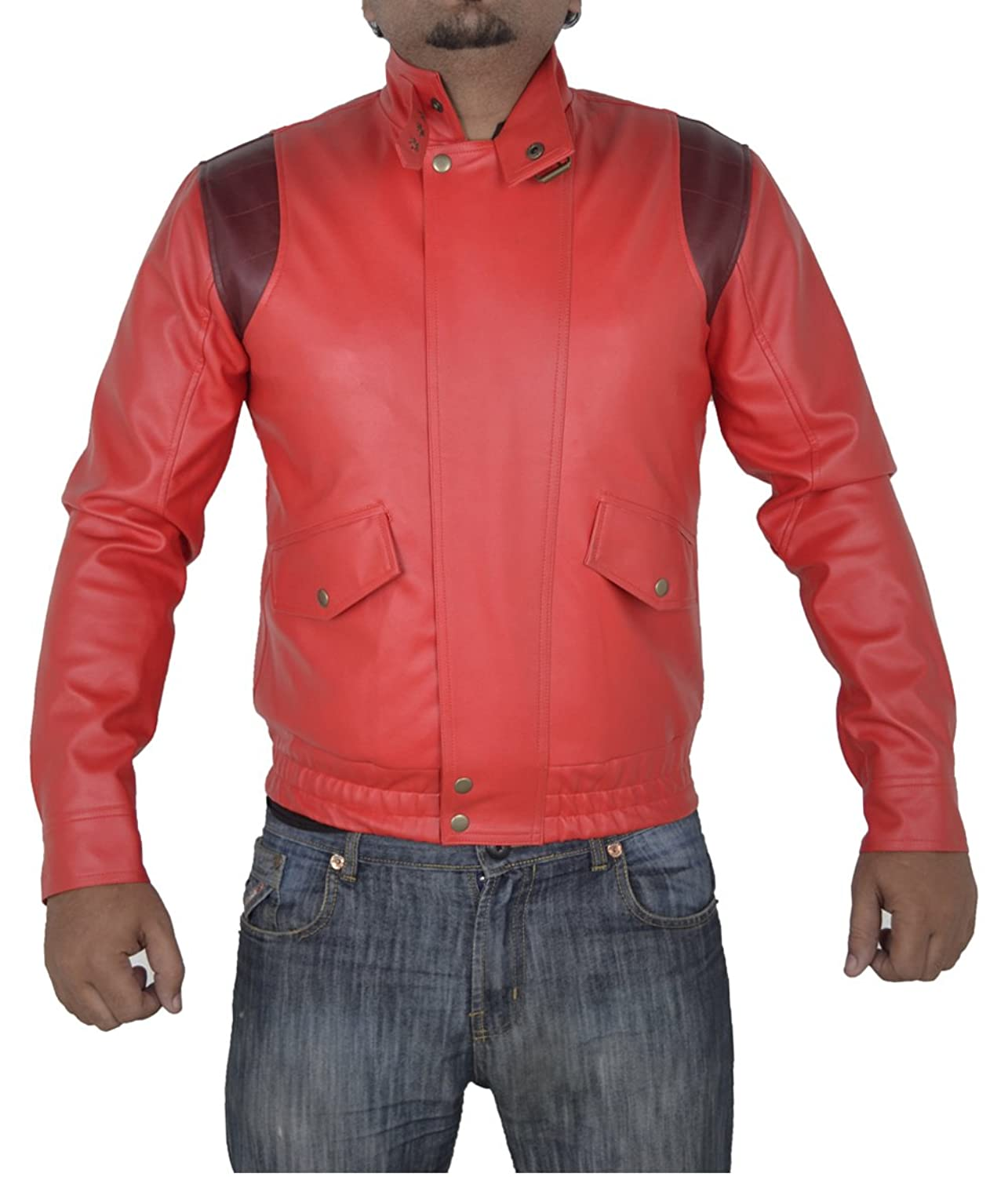 Akira Manga V3 Full Red Faux Leather Jacket With Capsule only