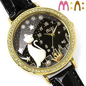 [ミニ]mini 腕時計 クラフト キッズ 革ベルト 猫 レディース MN1012 [並行輸入品]