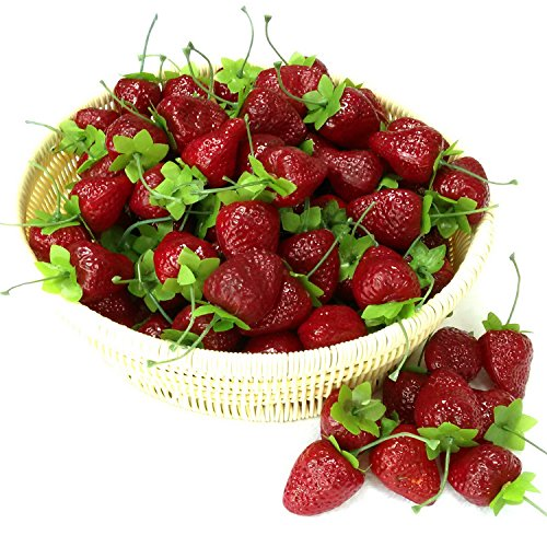 Gresorth 30pcs artificial lifelike simulation small dard for Artificial cherries decoration