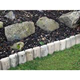 Wooden Lawn Edging 12'' x 1.8m 12'' Log Roll