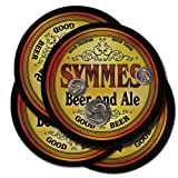 SYMMES Family Name Beer & Ale Coasters