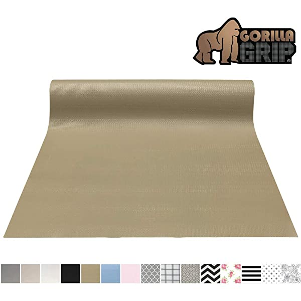 Gorilla Grip Original Smooth Top Slip-Resistant Drawer and Shelf Liner, Non Adhesive Roll, 20 Inch x 20 FT, Durable Kitchen Cabinet Shelves Liners for Kitchens Drawers and Desks, Beige (Color: Beige, Tamaño: 20 x 20')