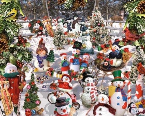 Snowmen - 1000 Piece Jigsaw Puzzle