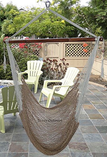 Mayan hammock chair by krazy outdoors large hanging swing chair cotton rope construction - Wooden garden swing seat plans perfect tranquility ...