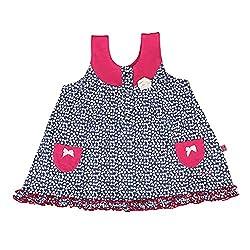 Buzzy Baby-Girls' Dress (Navy,9-12M)