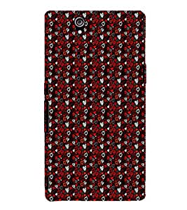 EPICCASE types of hearts Mobile Back Case Cover For Sony Xperia Z (Designer Case)