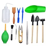 Thee-home 13 Pieces Mini Garden Hand Transplanting Succulent Tools Miniature Planting, Set for Indoor Fairy Care (Color: Gardening Tool Set for Indoor Miniature Fairy Garden Plant Care)