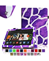 "Fintie Amazon All-New Kindle Fire HDX 8.9"" Folio Case Slim Fit Leather Cover - Giraffe Purple (will only fit Kindle Fire HDX 8.9 Tablet 2013 Model)"