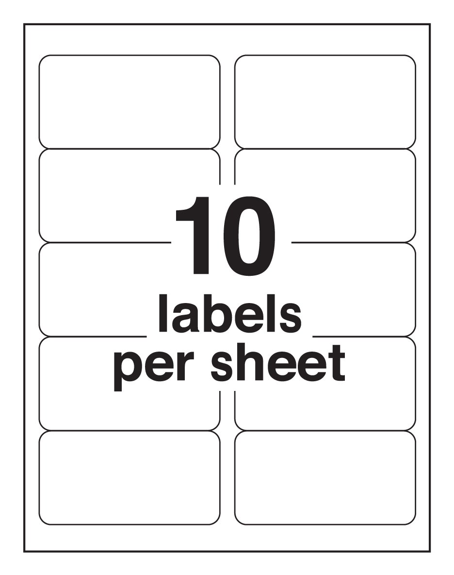 10 up labels avery mailing labels for laser printers 2 x 4 inches 10