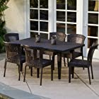 Best Selling Home Dusk All-Weather Wicker Patio Dining Set - Seats 6, Resin Wicker