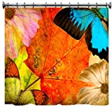 "Autumn Grunge Shower Curtain - 69"" X 70"""