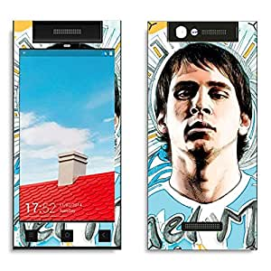 Bluegape Gionee E7 Mini Lionel Messi Football Player Phone Skin Cover, Multicolor