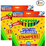 Crayola 58-8148 Ultra Clean Expression Stamper Markers (Tamaño: 2 Pack)