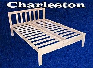 Charleston Solid Hardwood Platform Bed Frame Full Size