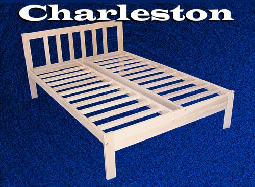 Charleston Solid Hardwood Platform Bed Frame - Full Size