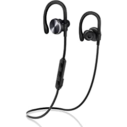 Coulax Bluetooth V4.1 Wireless Sport Stereo Headphones - Black