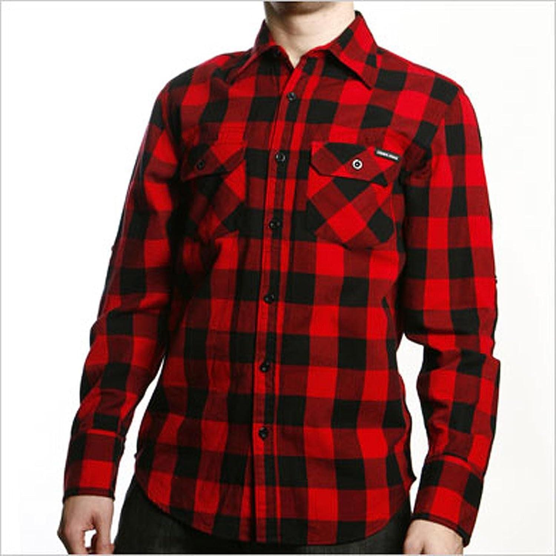 Schwarzes Hemd Kombinieren Print Hemd Schwarz/rot