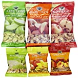 Bare Fruit 100% Organic Bake-Dried Snacks, Sample Box, 63 Grams 6 count Variety Pack