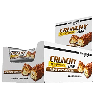 Best Body Nutrition Crunchy One Vanilla Caramell Meal replacement, 1er Pack (1 x 1.2 kg)