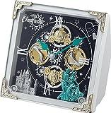 シンデレラ/Disney(リズム時計) シンデレラのストーリーを《からくり時計》に。 からくり置時計/シンデレラ 白色 4RH784MC03