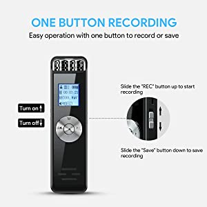 32GB Digital Voice Recorder, ADOKEY Audio Sound Recorder Portable MP3 Recorder Dictaphone for Meeting Lecture Rechargeable Recording Device Voice Activated Recorder with Playback for Interview