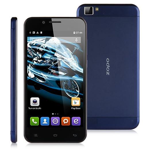 ZOPO ZP1000 Octa Core 3G Smartphone 5,0 Pouce HD IPS 1080P Ecran 1Go RAM+16Go ROM Android 4.4 KitKat MTK6592 1,7GHz téléphone portable Appareil photo 14.0MP WIFI GPS Bluetooth OTG OTA-Bleu foncé